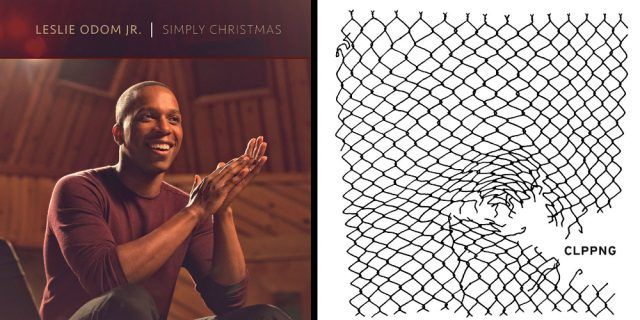 The album covers for Leslie Odom Jr.'s album, 'Simply Christmas,' and Clppng's self-titled album.