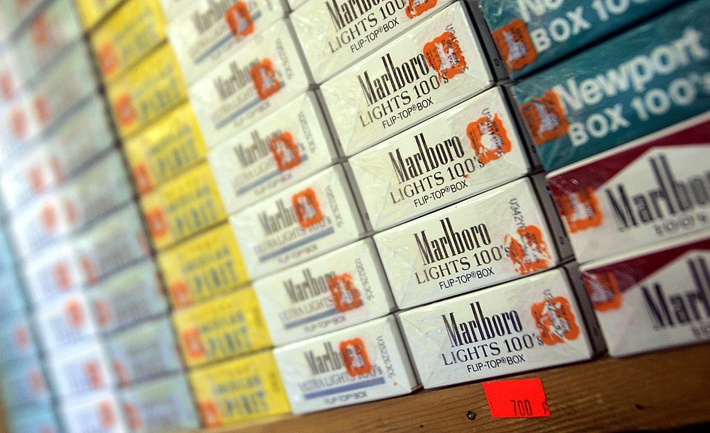packs of cigarettes