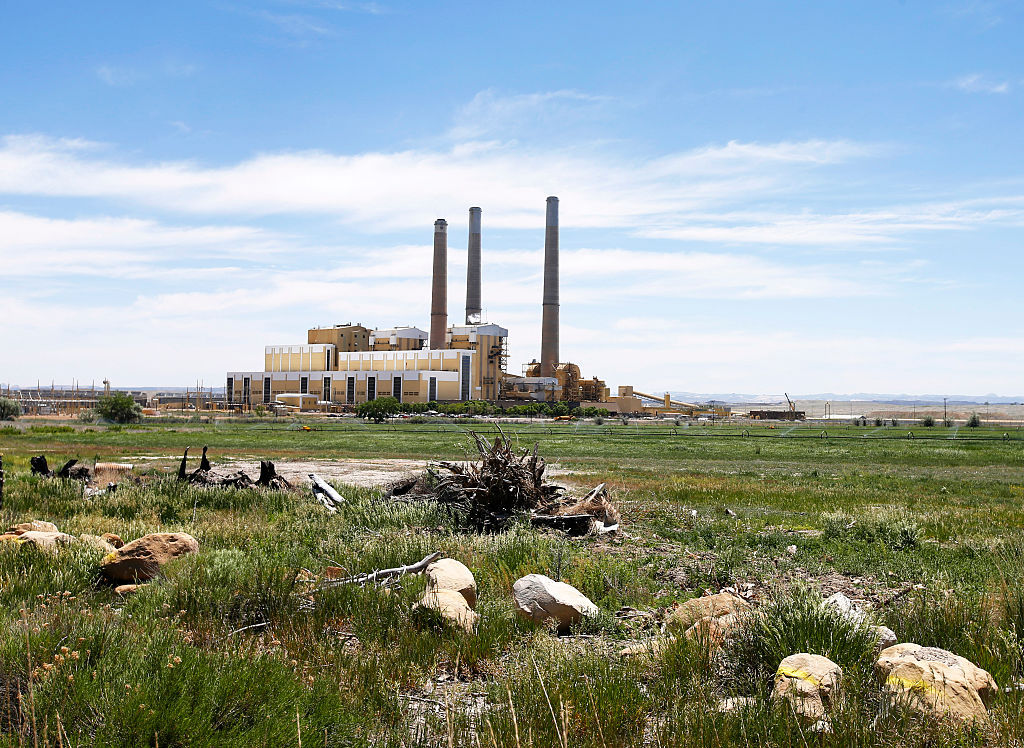The Hunter Power plant outside Castle Dale, Utah