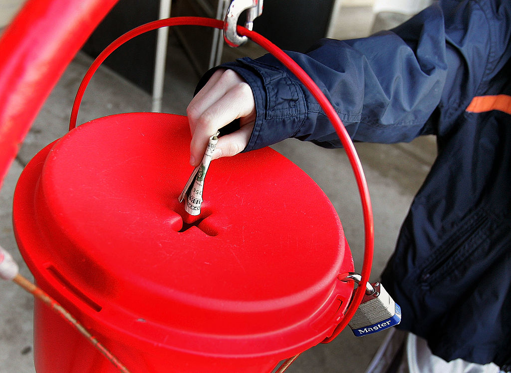 salvation army red kettle donation