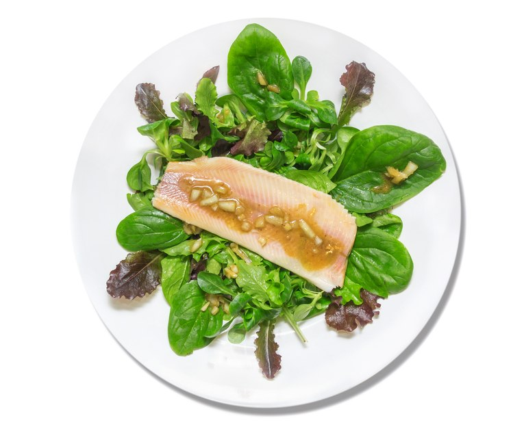 salad with trout