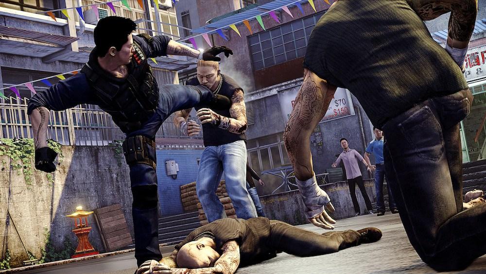 A street fight scene from 'Sleeping Dogs'