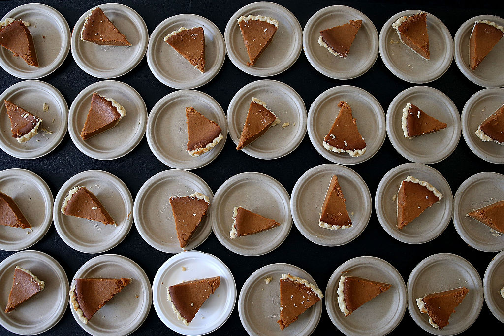 slices of pumpkin pie