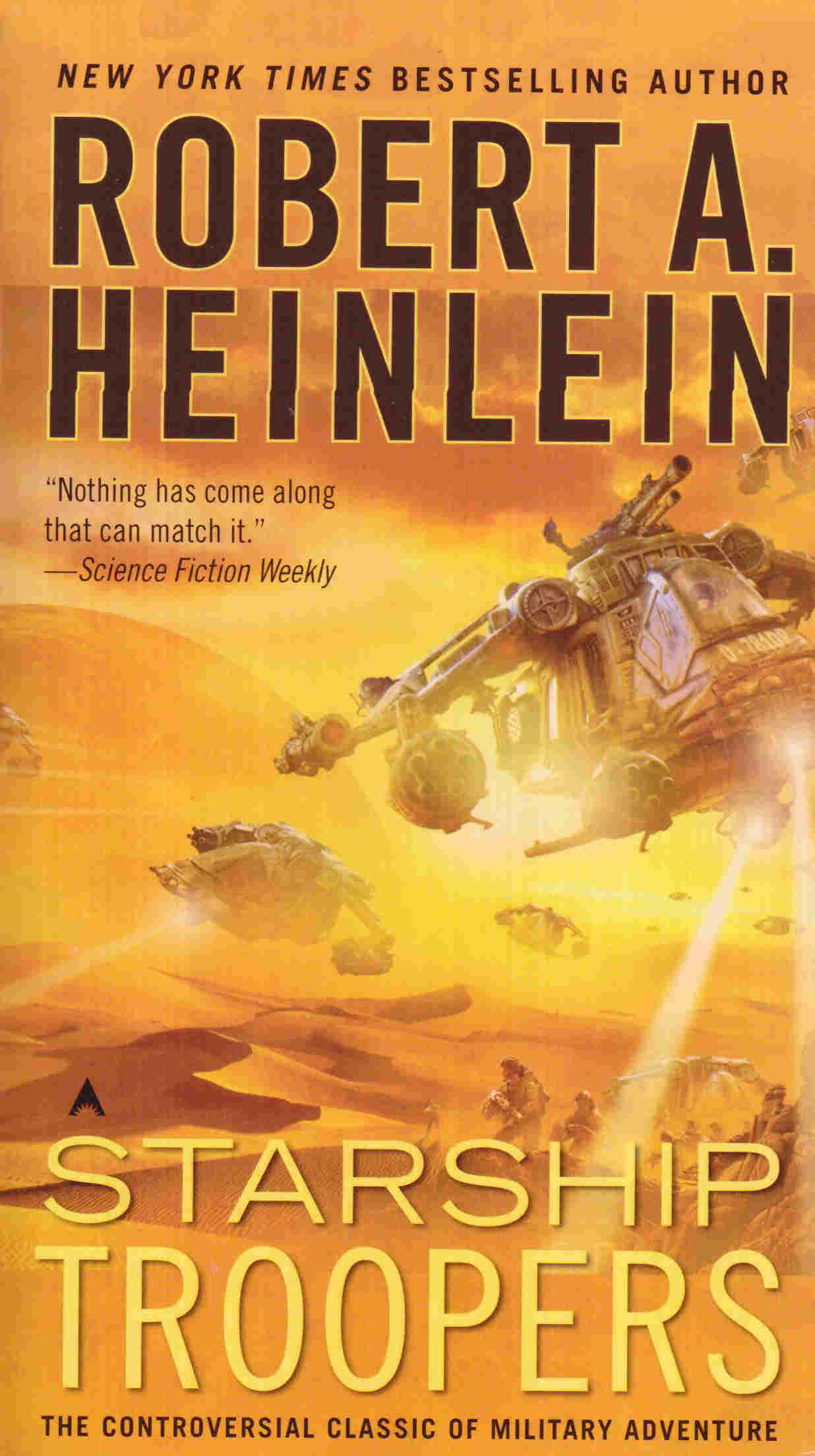 The cover of the Starship Troopers book