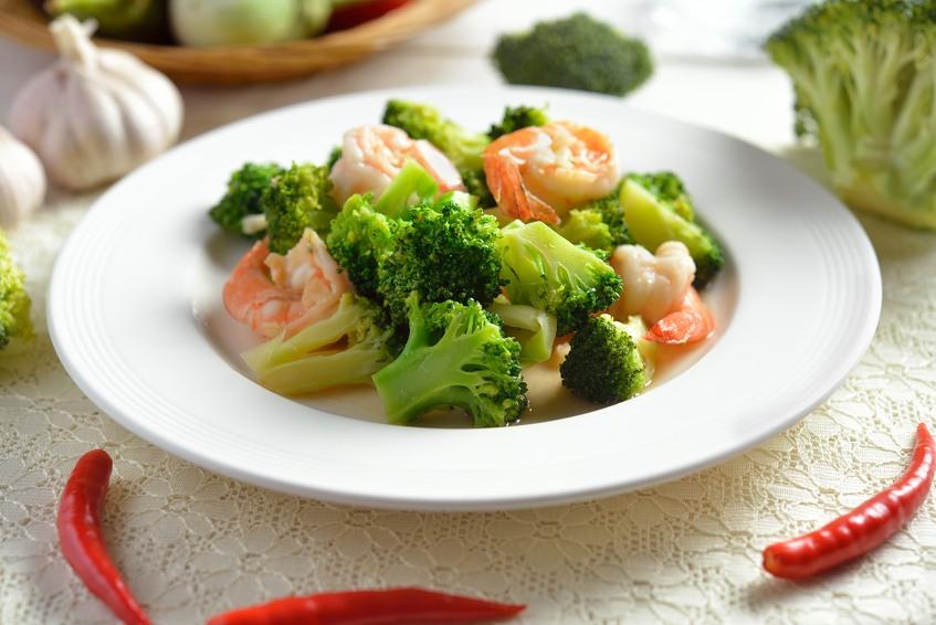 shrimp and broccoli