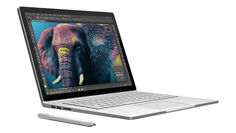 Microsoft Surface Book and stylus