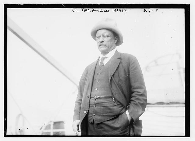 Black and white picture of Theodore Roosevelt