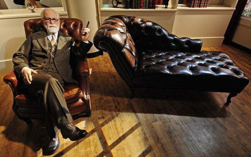 A wax figure of Sigmund Freud, the famous psychoanalyst