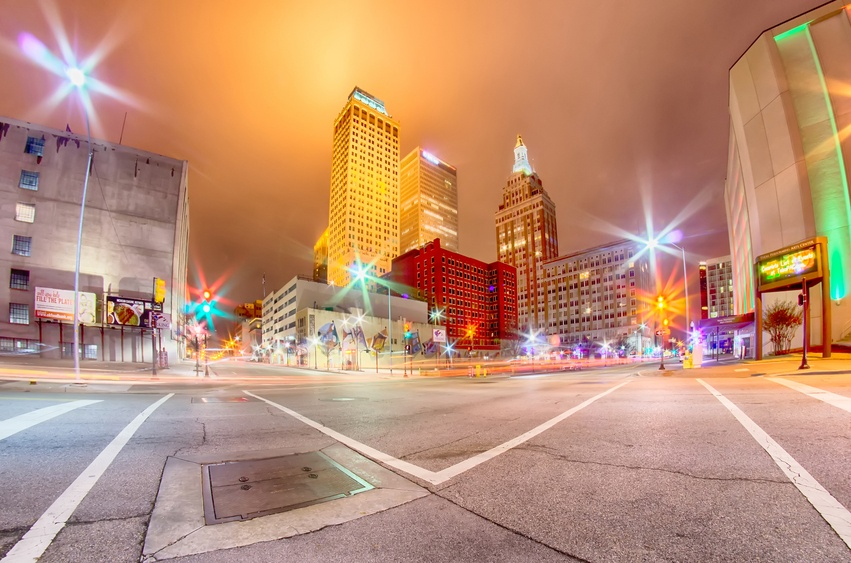 A view of downtown Tulsa, Oklahoma