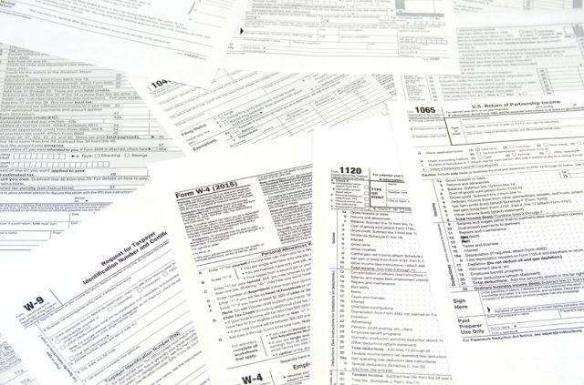 Blank tax forms