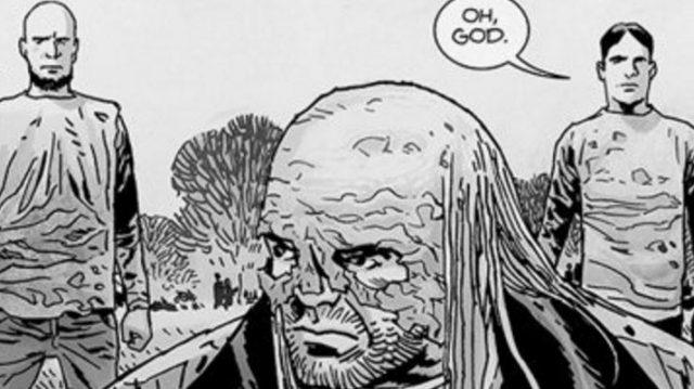 Beta in an image from 'The Walking Dead' comics.