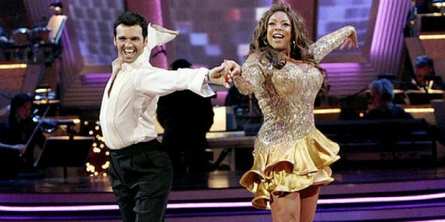 Wendy Williams dances with her partner on Dancing with the Stars