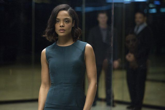 Charlotte Hale (Tessa Thompson) in a scene from HBO's 'Westworld'