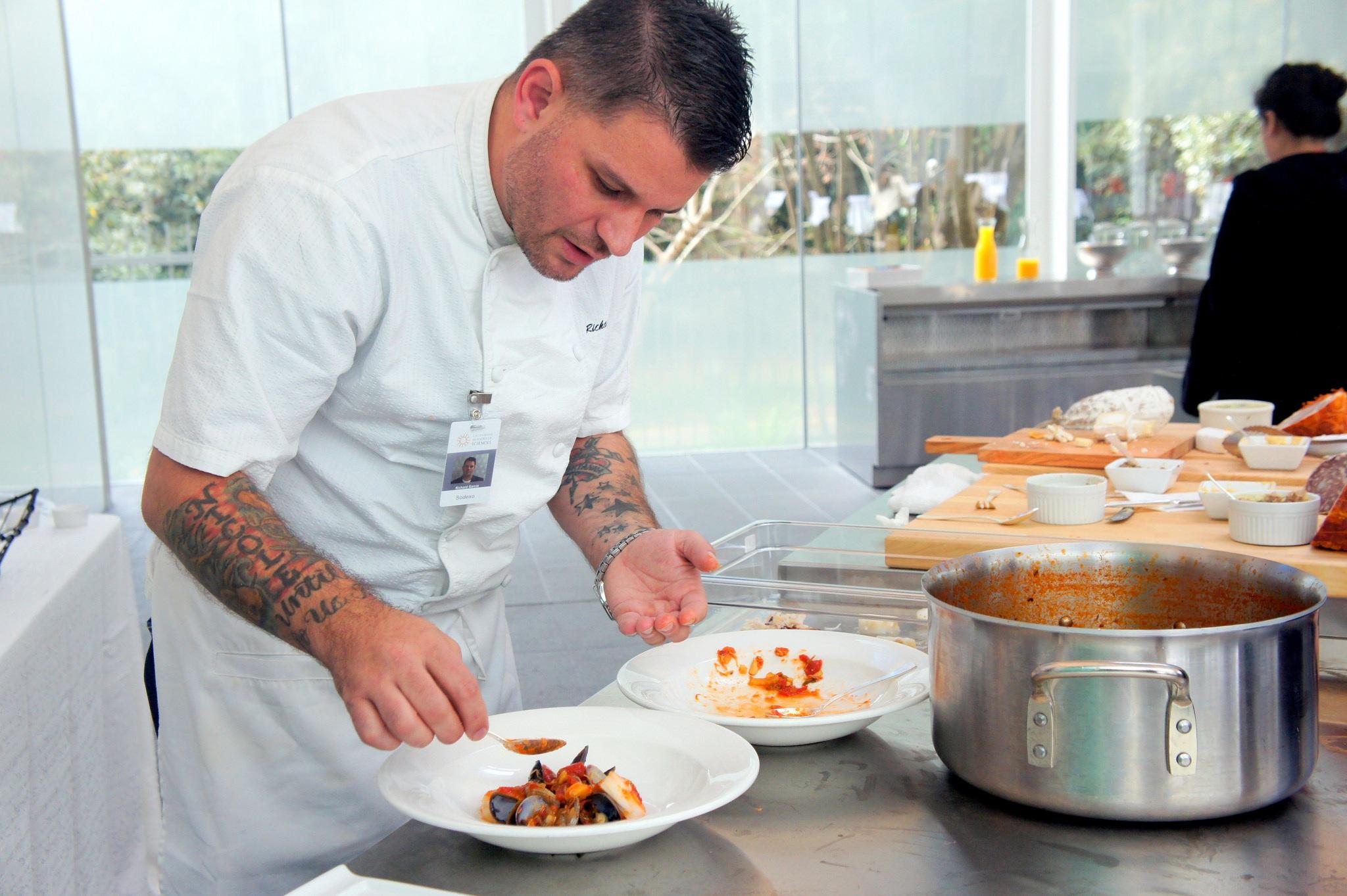 A sodexo chef at work