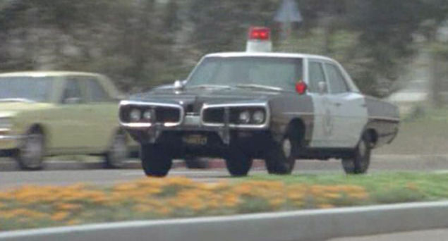 A 1970 Dodge Coronets in use as an American cop car