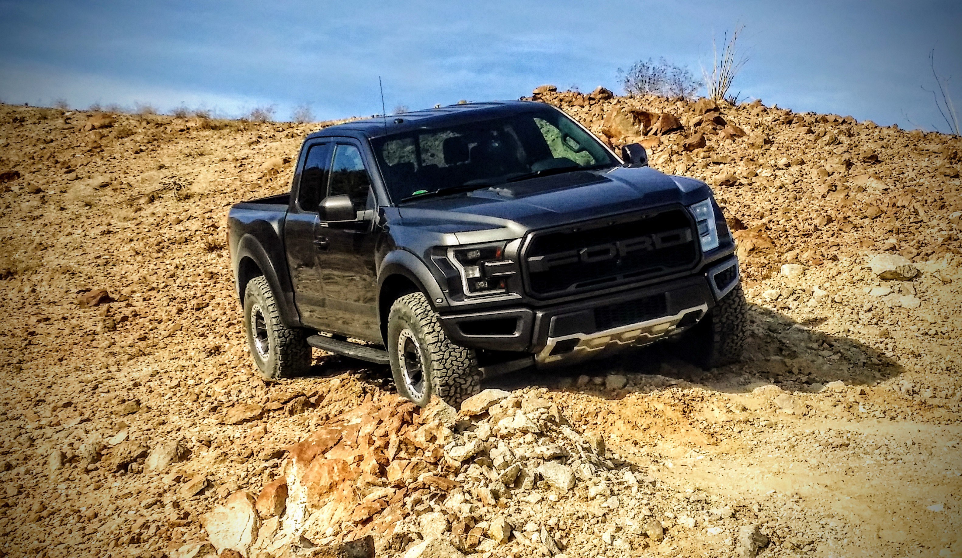 The completely redesigned Ford F-150 Raptor in its natural habitat.