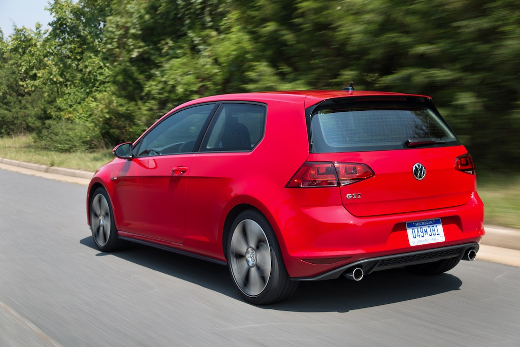 Volkswagen Golf GTI two-door -- one of the most affordable high-performance cars on the road.