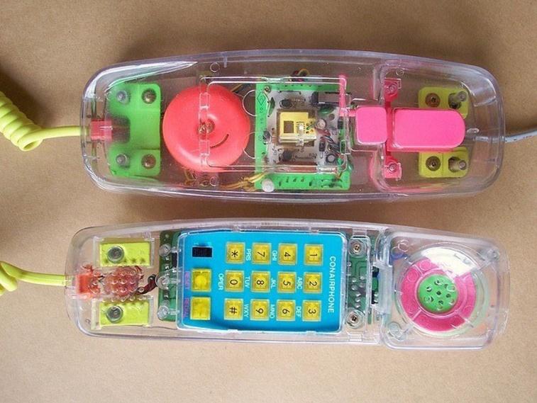 See-thru phone
