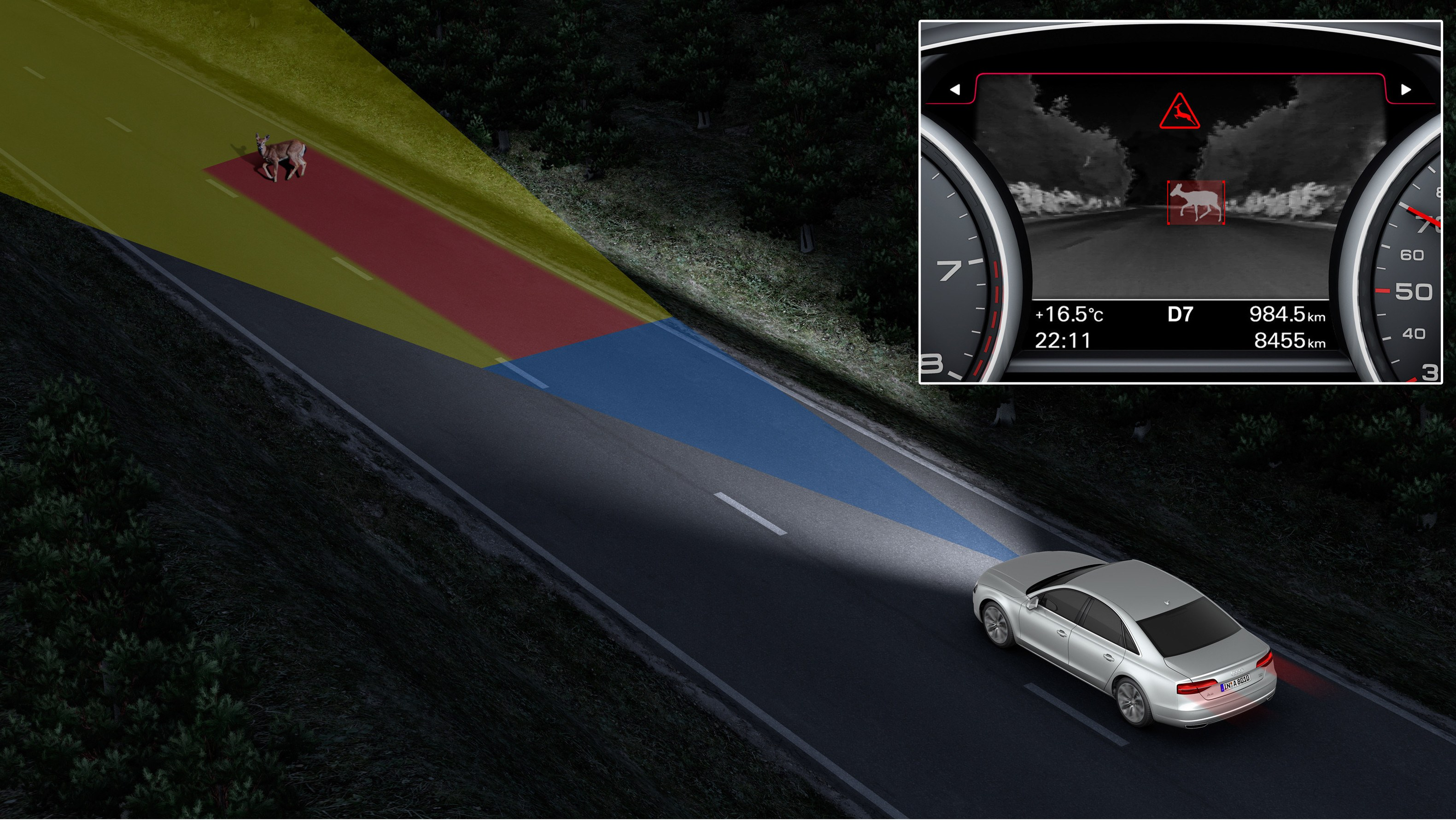 Audi A8 with Night Vision Assistant