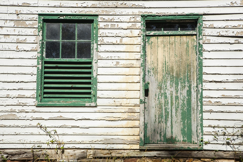 chipped siding