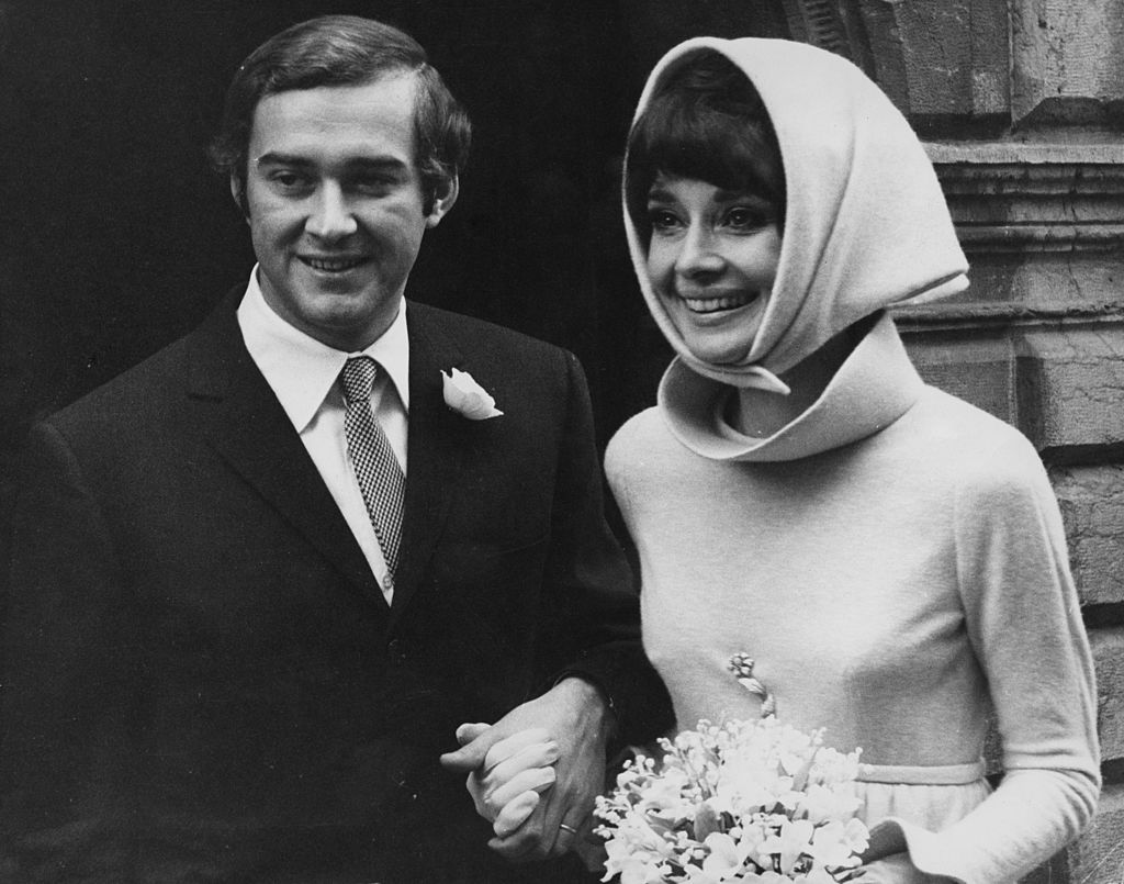 Audrey Hepburn (1929 - 1993) with her second husband, Italian psychiatrist Andrea Dotti