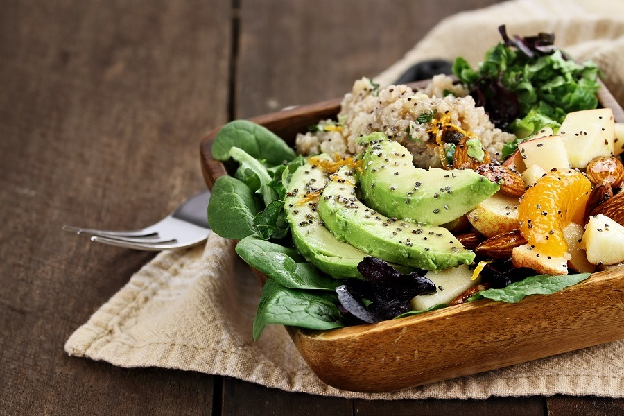 Quinoa, avocado and apple salad