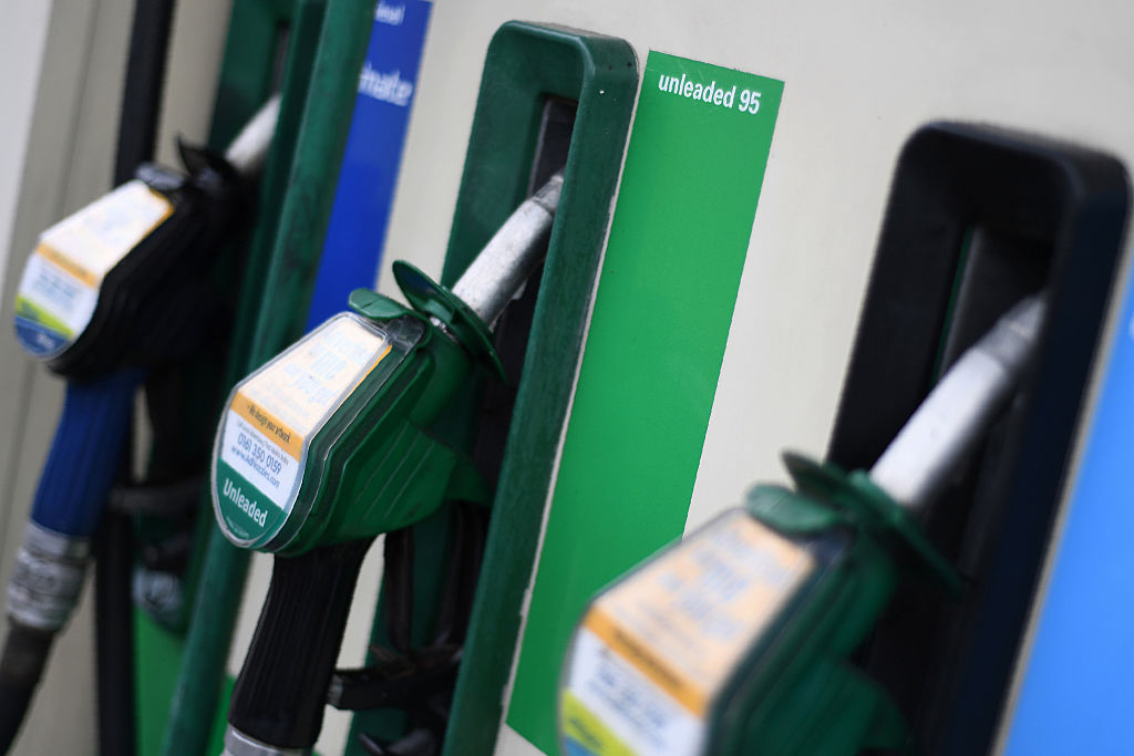 Pumps at a gas station