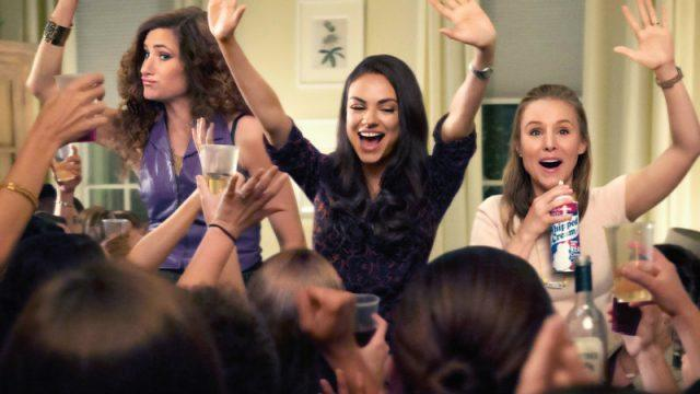 Kristen Bell, Mila Kunis and Kathryn Hahn throw a party in a scene in Bad Moms