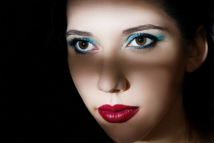 beautiful model with a professional make-up