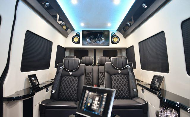 The interior of one of Bespoke Coach's Sprinter vans may not be large, but it certainly is luxurious | Bespoke Coach