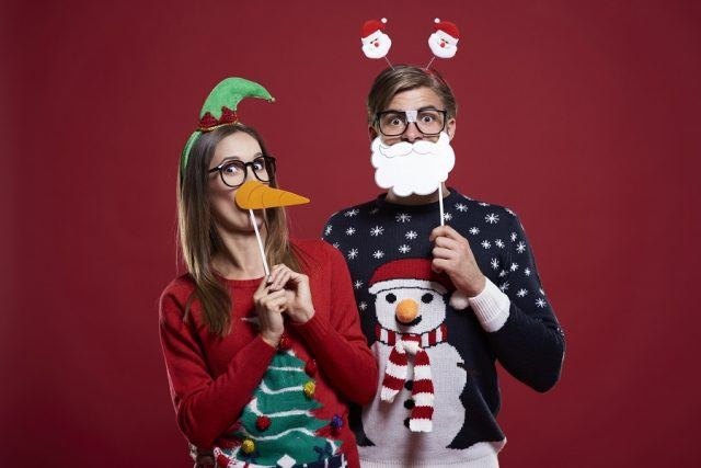 couple during the holidays