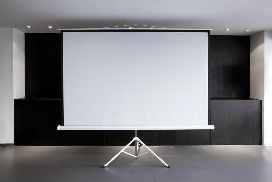 Blank projector canvas
