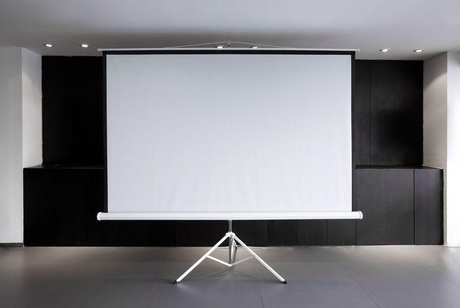 Blank projector canvas