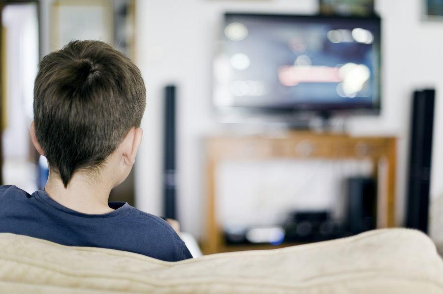 boy, watching TV