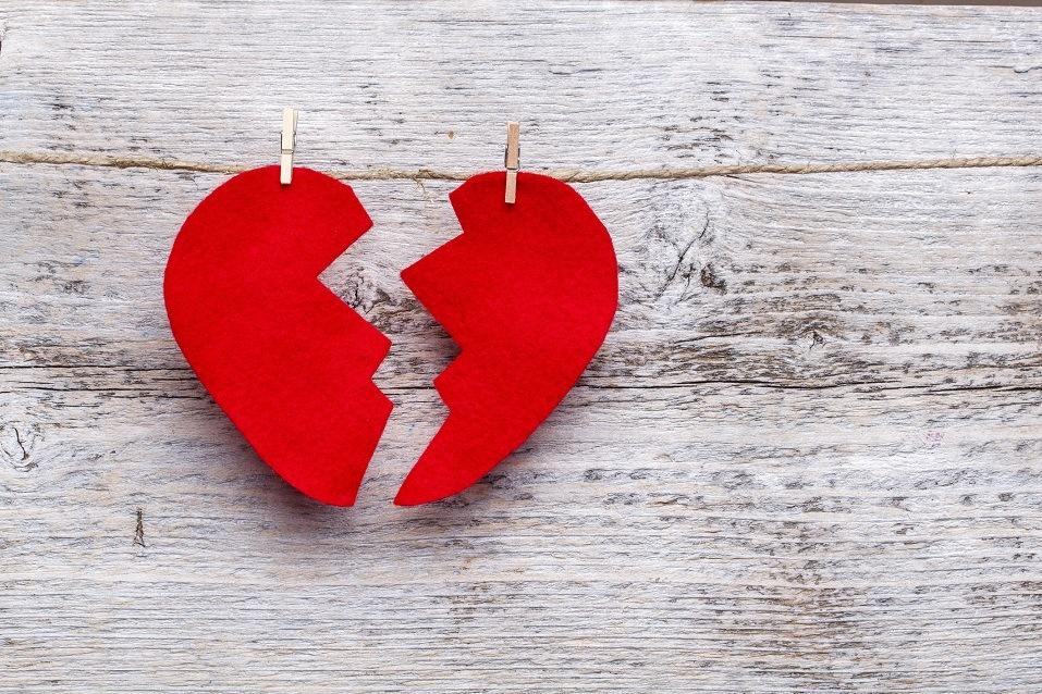 Broken heart hanging