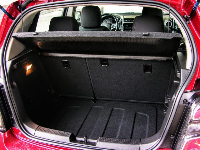 Rear storage space in the Chevy Sonic is adjustable and more plentiful than the Ford Fiesta | Micah Wright/Autos Cheat Sheet