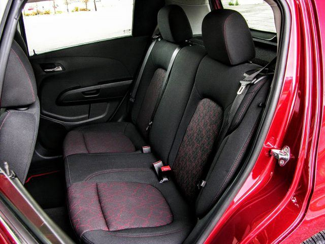 The rear seat of the Chevy Sonic is a far more spacious than it looks from the outside | Micah Wright/Autos Cheat Sheet
