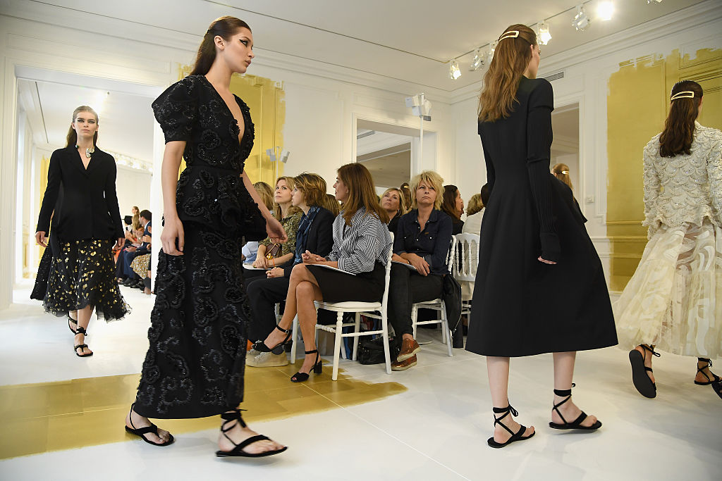 Models walk the runway during the Christian Dior Haute Couture Fall/Winter 2016-2017 show