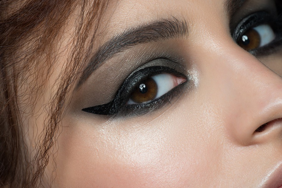 beautiful woman eye with fashion makeup