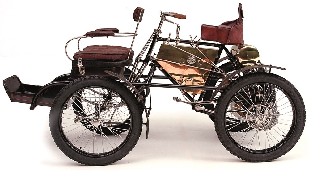 The De Dion-Bouton quadricycle.