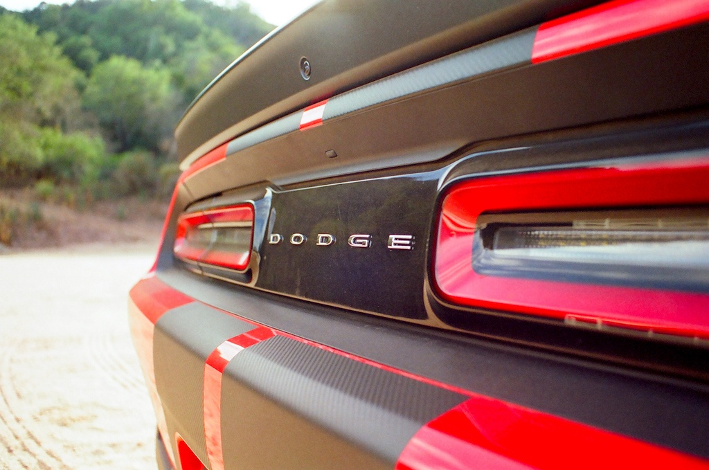 The rear of the 2016 Dodge Challenger Hellcat