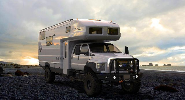 Riding atop a Ford F-750 chassis, the Earthroamer XV HD is about as ferocious as it gets outside of military spec   Earthroamer