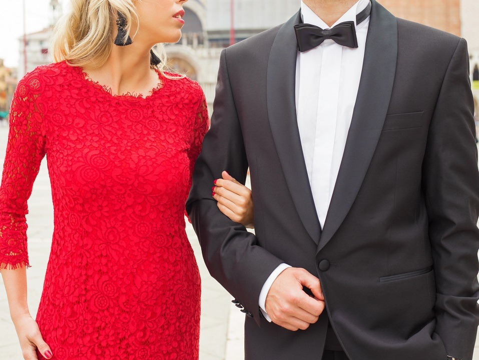 couple dressed up for an evening