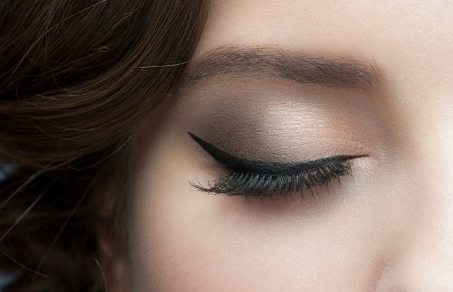 woman eye with beautiful makeup