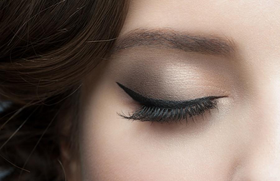 woman eye with beautiful makeup