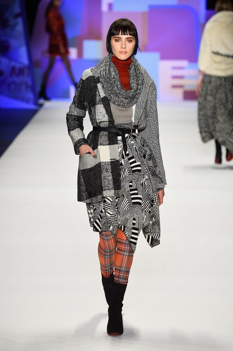 A model walks the runway wearing Desigual Fall 2016 during New York Fashion Week