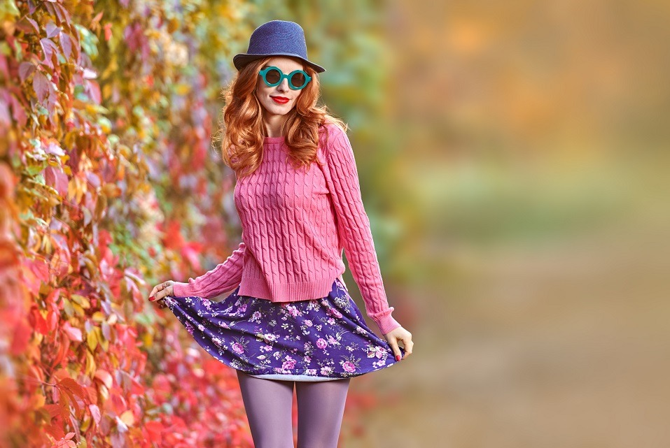Fashion Model woman Stylish Autumn Outfit
