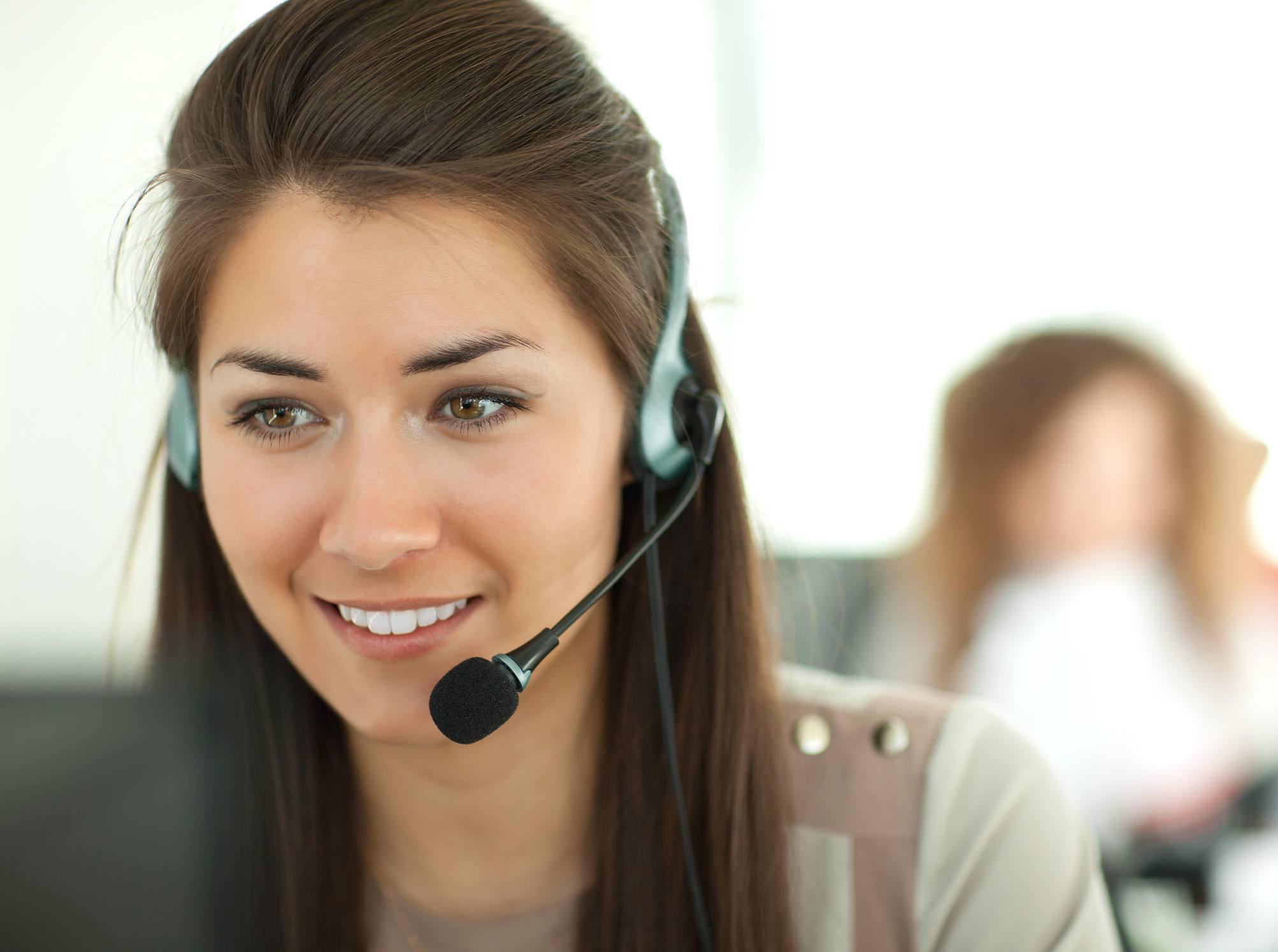 Female customer support operator
