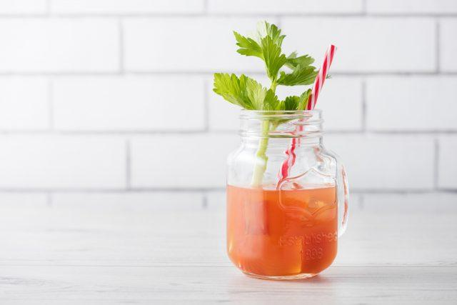 bloody mary cocktails with celery