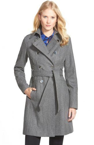 GUESS wool blend trench coat